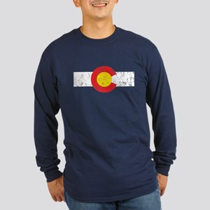 Colorado Vintage Long Sleeve Dark T-Shirt